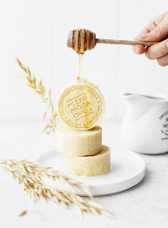 Ministerstwo Dobrego Mydła Mleko i Miód Szampon w Kostce 85g