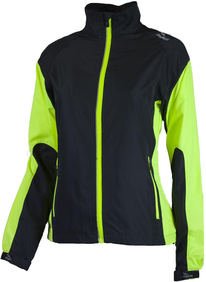 ROGELLI RUN ELVI - ultralekka damska kurtka do biegania, czarny-fluor Rozmiar: XL,rogelli-elvi-black-fluor
