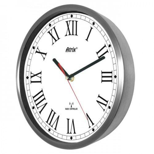 Zegar stal nierdzewna sterowany radiowo #2