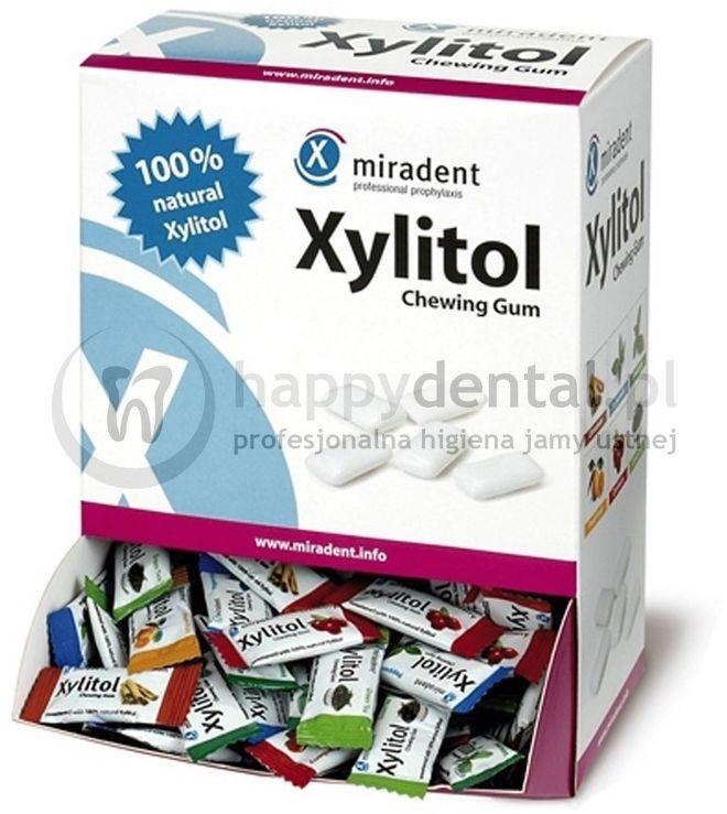 MIRADENT Xylitol Chewing Gum 200 x 2szt. BOX-PUDEŁKO gumy do żucia (6 Różnych Smaków)