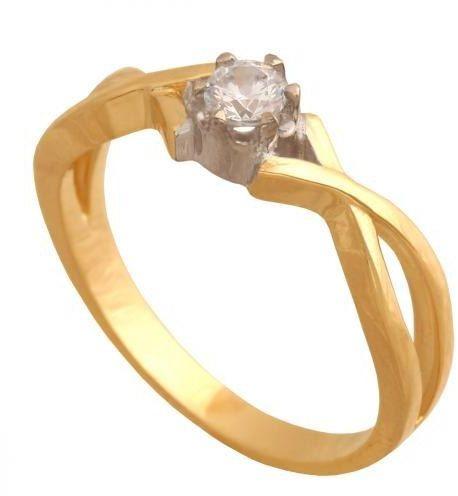 Złoty pierścionek zaręczynowy Pk587