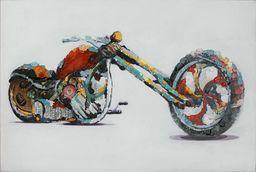 One Couture Harley obraz olejny Chopper nowoczesny kolorowy ręcznie wykonany wygląd 3D 60 90