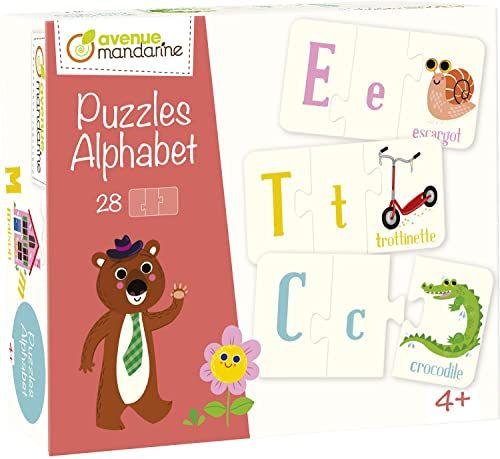 Avenue Mandarine 52593O - pudełko 28 3 sztuki puzzle alfabetu 6 x 11 cm