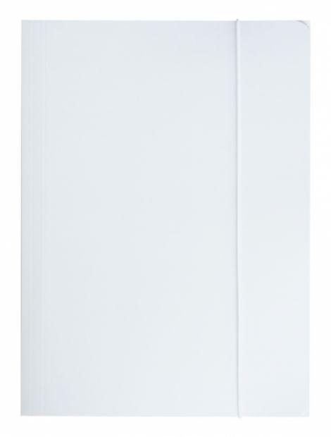 Teczka na dokumenty z gumką A4 (350 g/m2) - biała (TECZKA/A4/GUMKA/350)