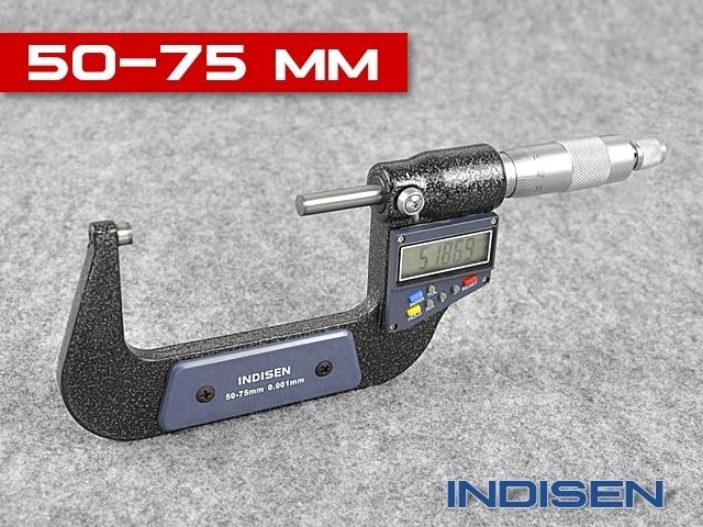 Mikrometr elektroniczny zewnętrzny 50-75MM - INDISEN (2311-5075)