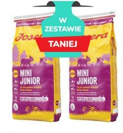 Josera Mini Junior Kaczka Łosoś Szczenięta Małe Rasy 2 x 15 kg
