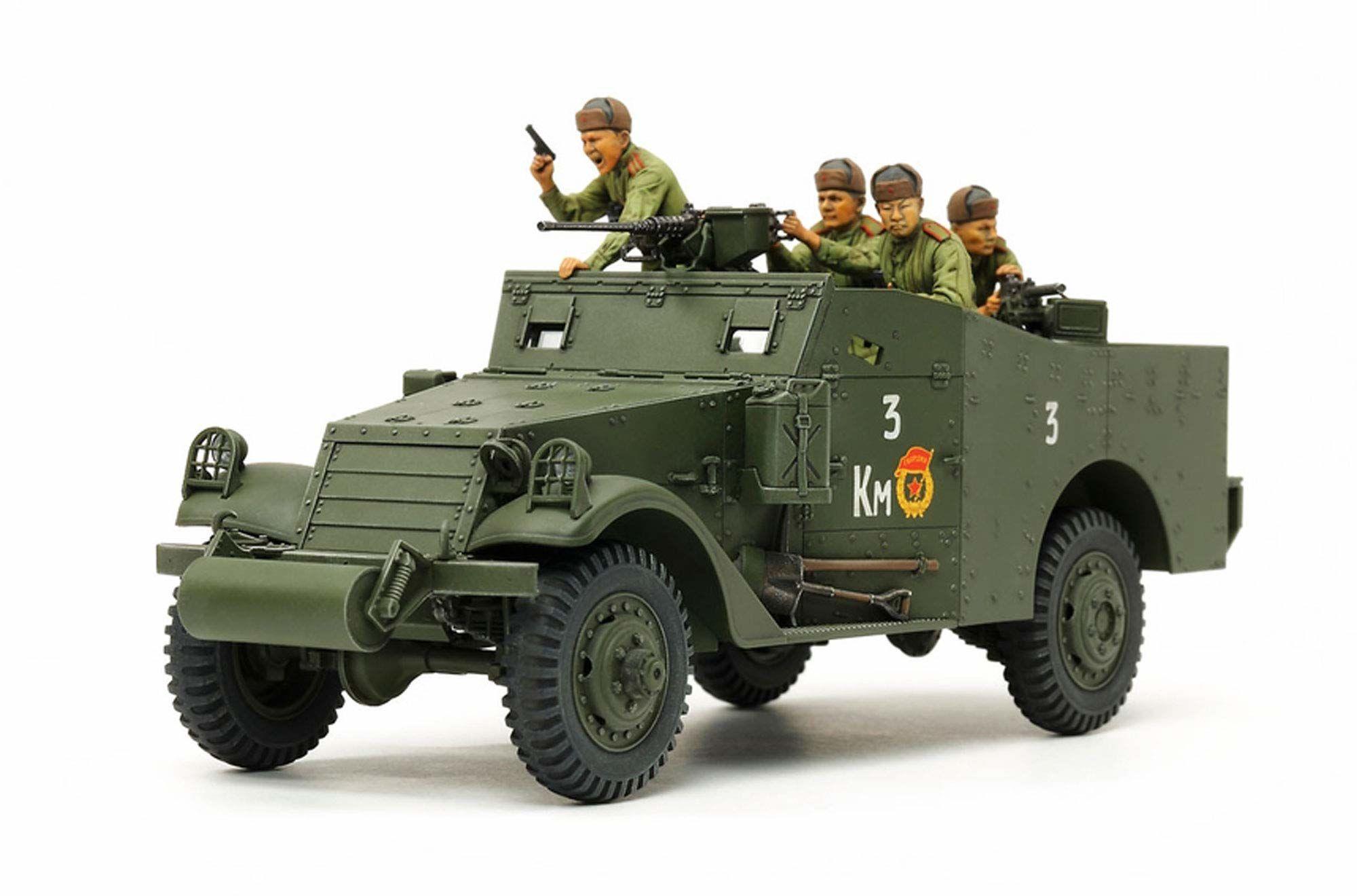 TAMIYA 35363  1:35 US M3A1 Scout car/wózek do sprzątania, budowa modeli, budowa modeli, zestaw budowlany z tworzywa sztucznego, hobby, majsterkowanie, klejenie, model, montaż