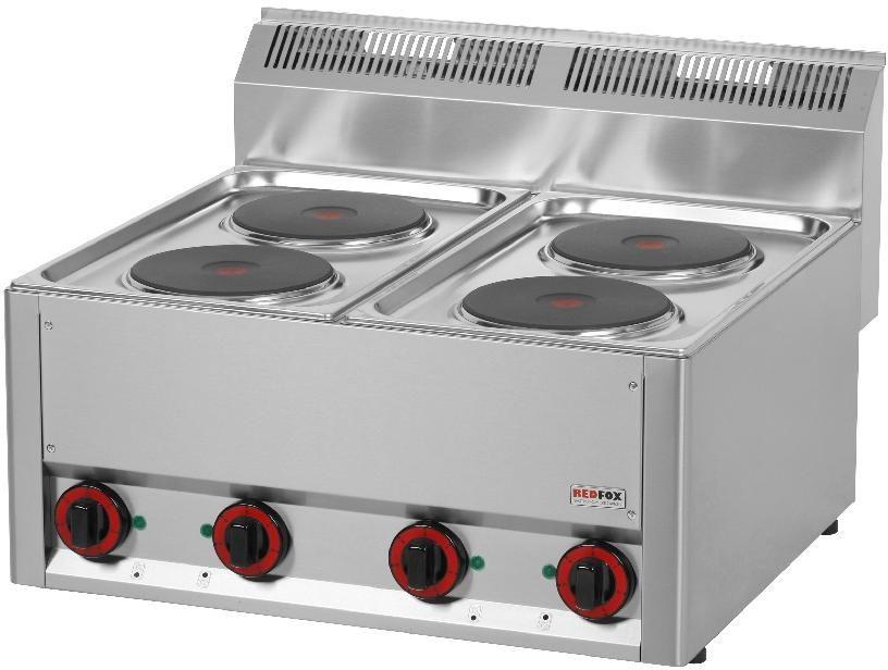 Kuchnia gastronomiczna elektryczna 4-płytowa SP 60 ELS