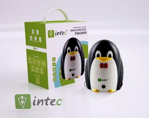 Inhalator Intec Pingwin praca ciągła + smoczek