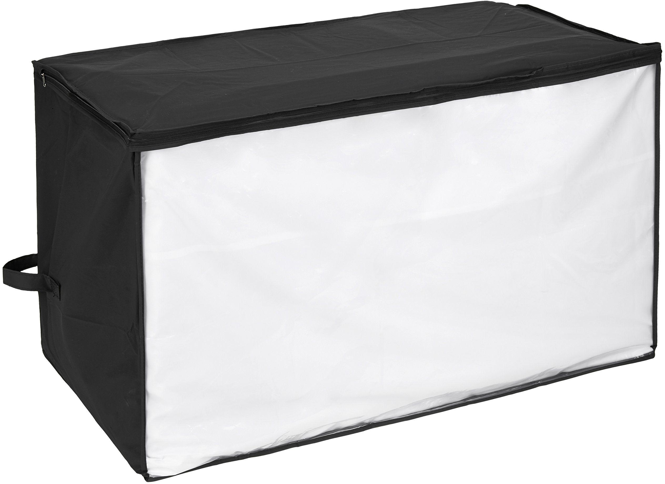 WENKO Jumbo Box Deep Black, octan winylu, 91 x 48 x 53 cm, czarny