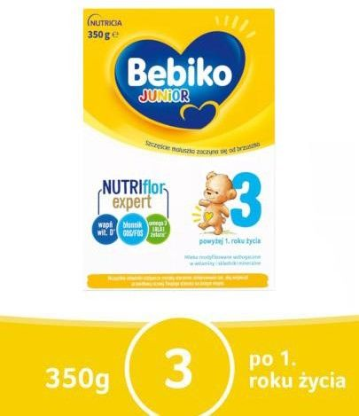 Bebiko Junior 3 mleko modyfikowane powyżej 1 roku życia proszek 350 g