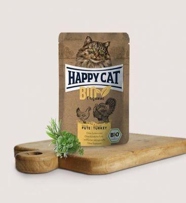 HC-0560 Happy Cat Bio Kurczak z Indykiem 85g