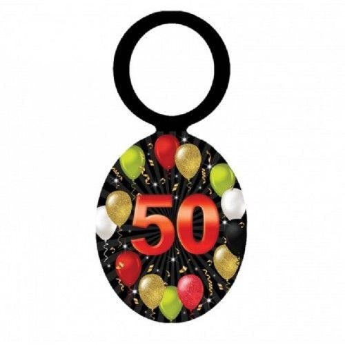 Zawieszki na butelkę na 50 urodziny Balony, 20 szt.