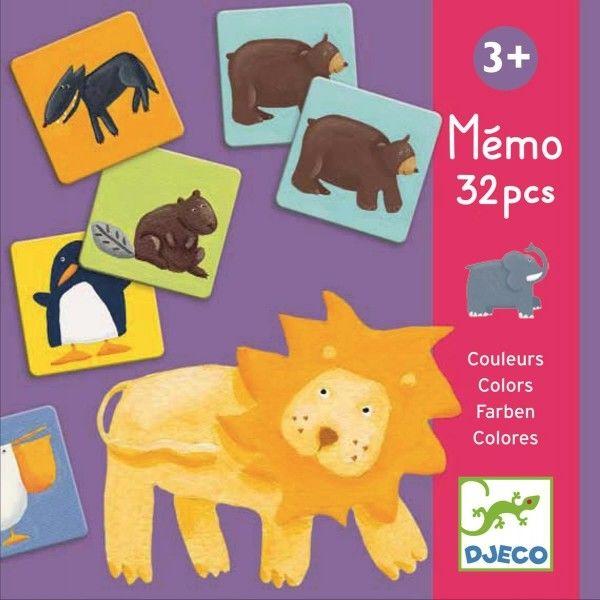 Djeco - memo Gra pamięciowa kolorowe zwierzątka DJ08110