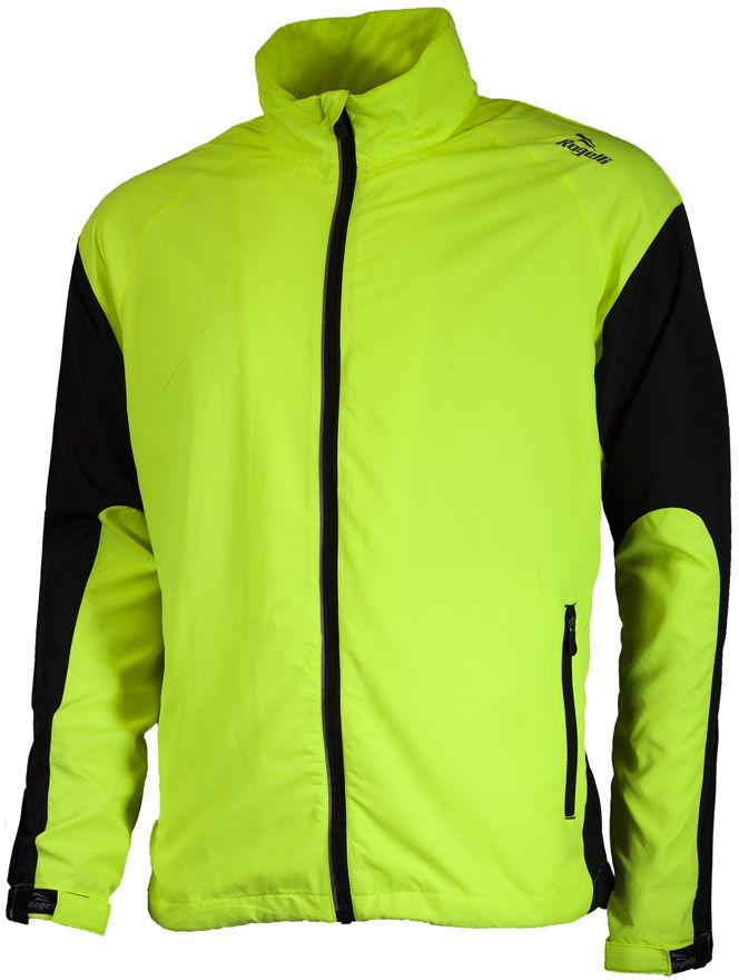 ROGELLI RUN DRUMMOND - lekka męska kurtka do biegania, kolor: Fluor Rozmiar: S,rogelli-drummond-fluor