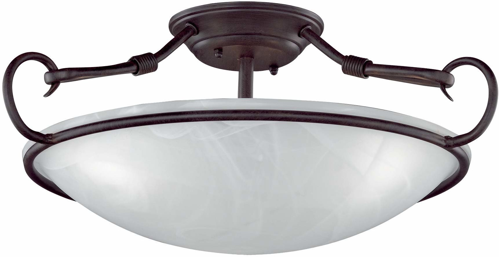 Honsel Leuchten 22153 lampa sufitowa w kolorze rdzy antyczne szkło kolor alabastrowy biały