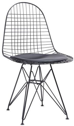 Krzesło NET - inspirowane proj. Wire Chair Czarne