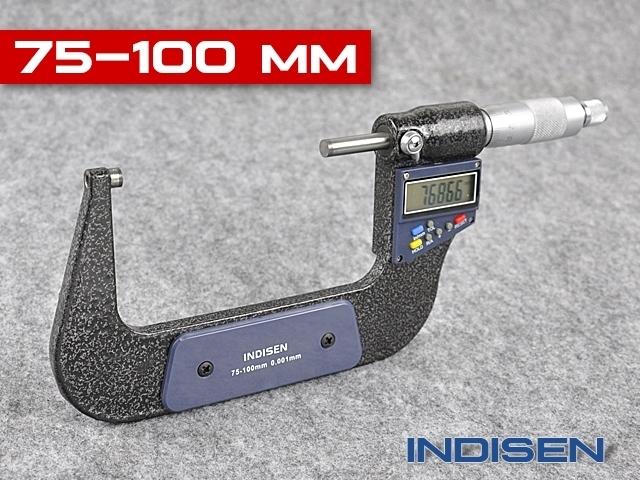 Mikrometr elektroniczny zewnętrzny 75-100MM - INDISEN (2311-7510)