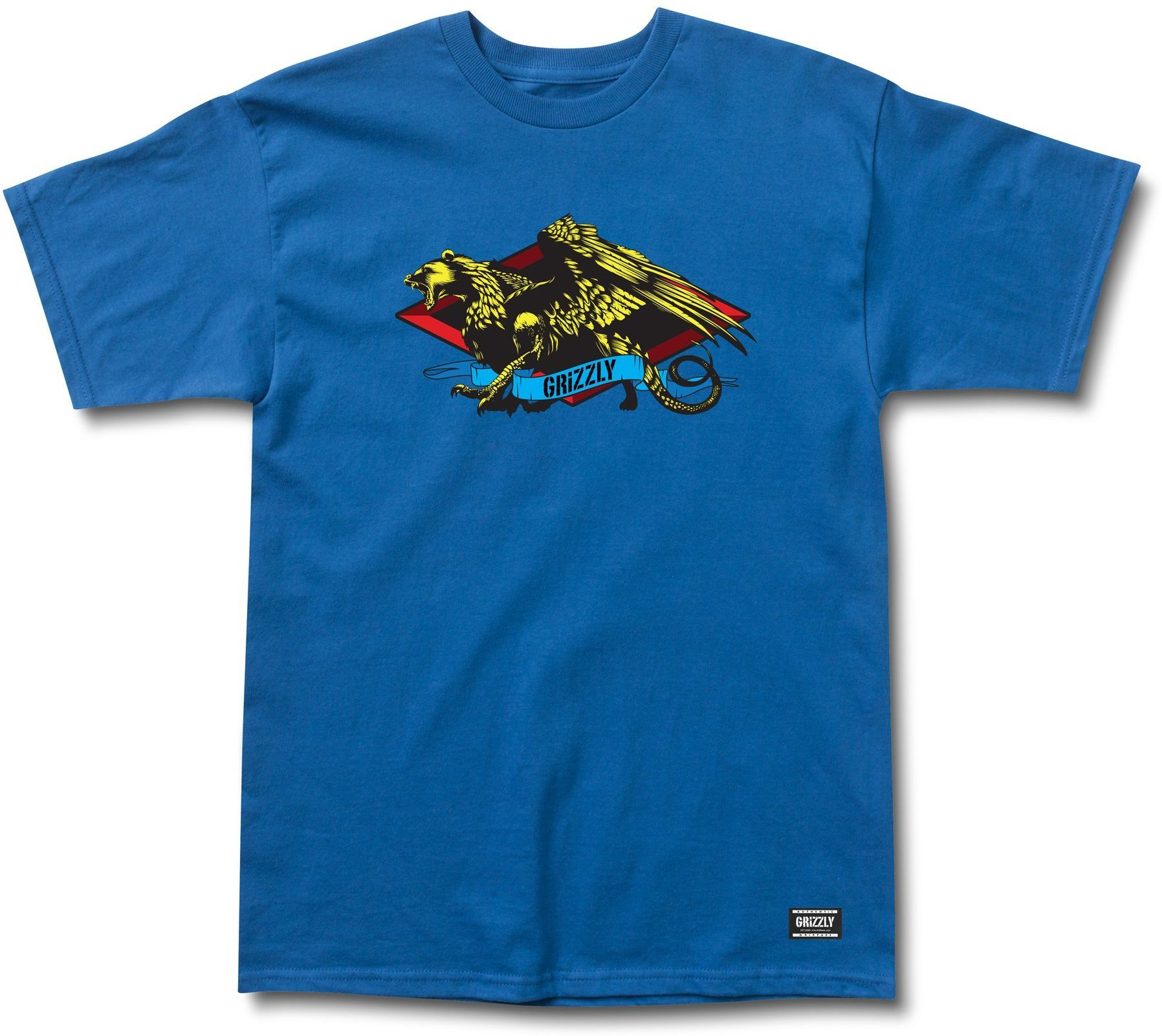 t-shirt męski GRIZZLY BEAST MASTER TEE Royal Blue