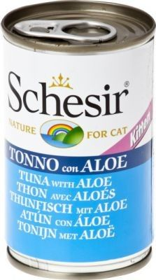Schesir (kot) - puszka 140g - Tuńczyk z aloesem dla kociąt