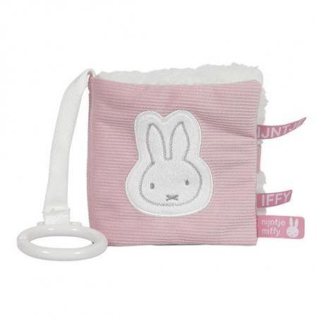 Tiamo - Tiamo Miffy Pink Babyrib Książeczka Aktywizująca Nijn626