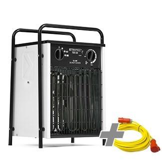 Nagrzewnica elektryczna TDS 50 biała + Przedłużacz Profi 20 m / 230 V / 2,5 mm