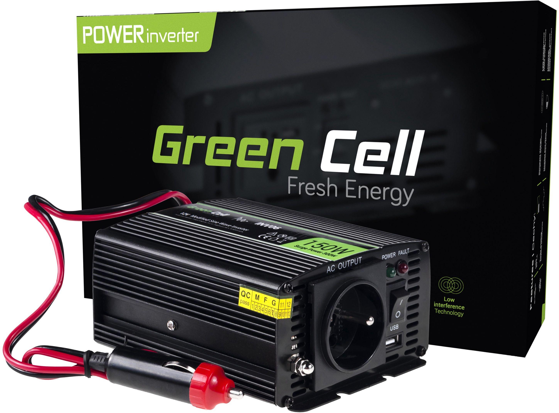 Przetwornica napięcia Inwerter Green Cell  12V na 230V 150W/300W Modyfikowana sinusoida