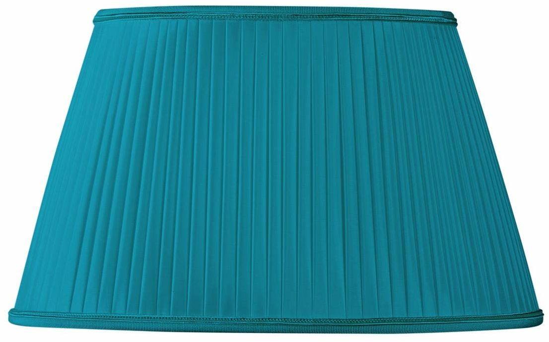 Klosz lampy owalny Ø 20 x 13/15 x 10/12 (plisa ręczna) turkusowy