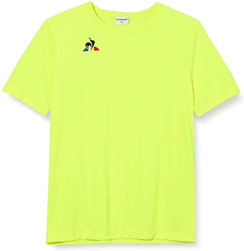 Le Coq Sportif N 1 Maillot Match Enfant Mc Jaune Fluo podkoszulek, neonowy żółty, 6A