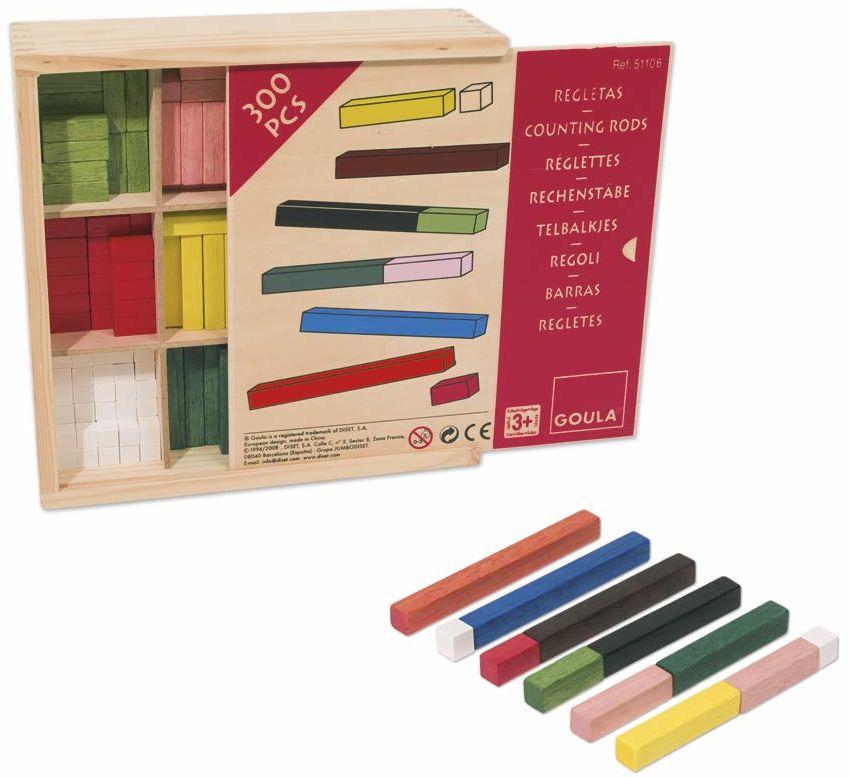 Goula - D51106 - laski do liczeń 10 x 10 gry w drewnianym pudełku