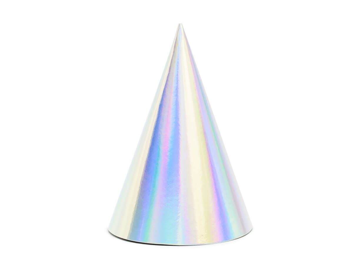 Czapeczki holograficzne opalizujące - 6 szt.