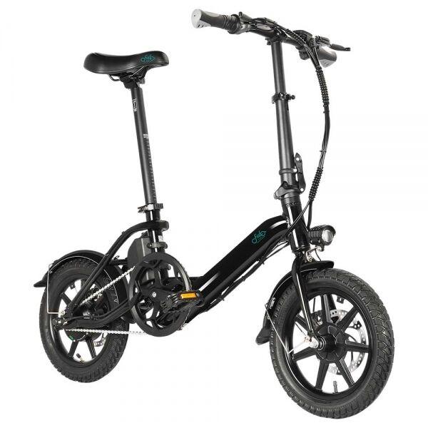 """FIIDO D3 Pro Składany Rower Elektryczny 14""""7,5Ah - Czarny"""