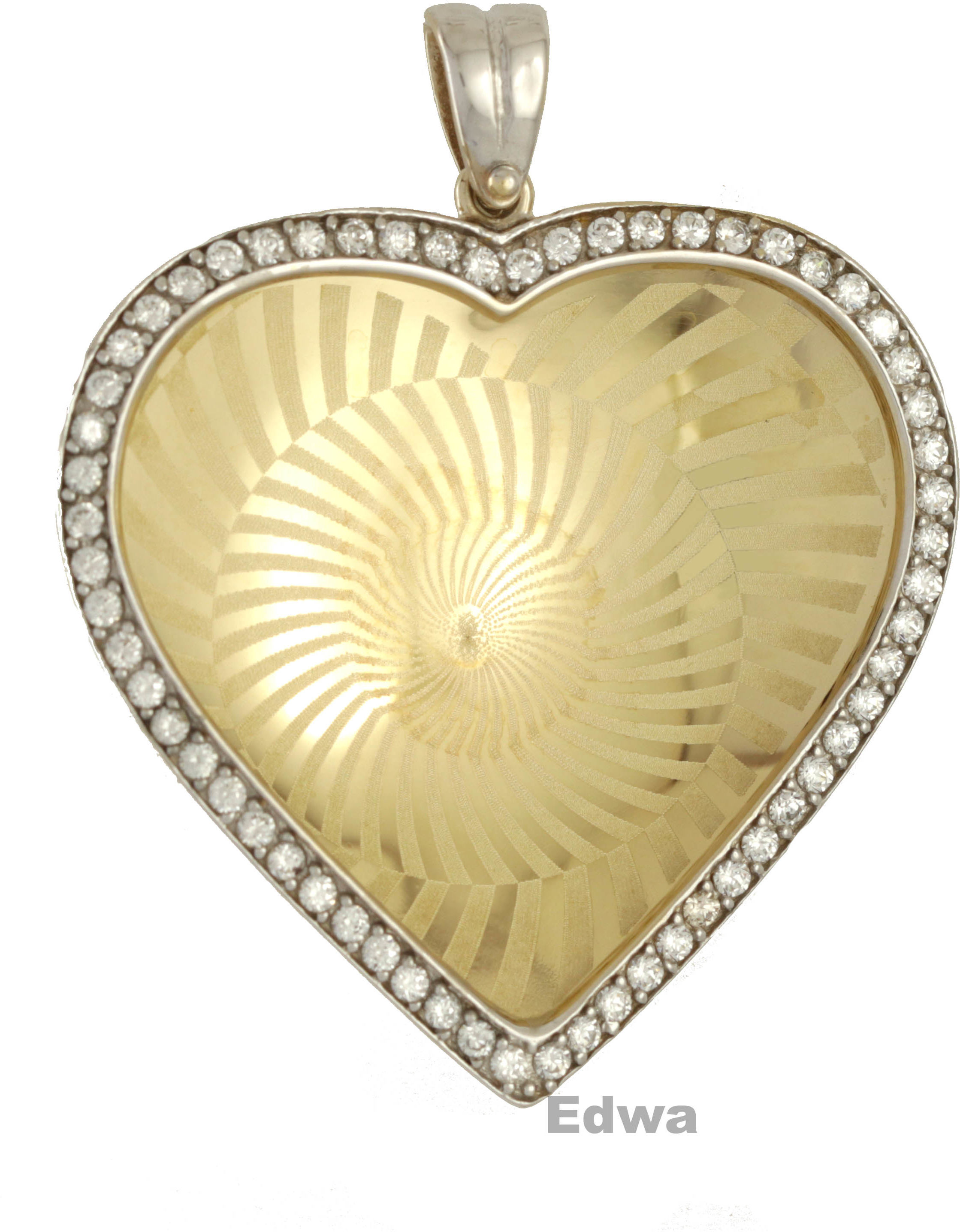 Serce złote z cyrkoniami pr.585