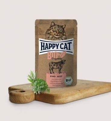 HC-0546 Happy Cat Bio Wołowina Organiczna 85g