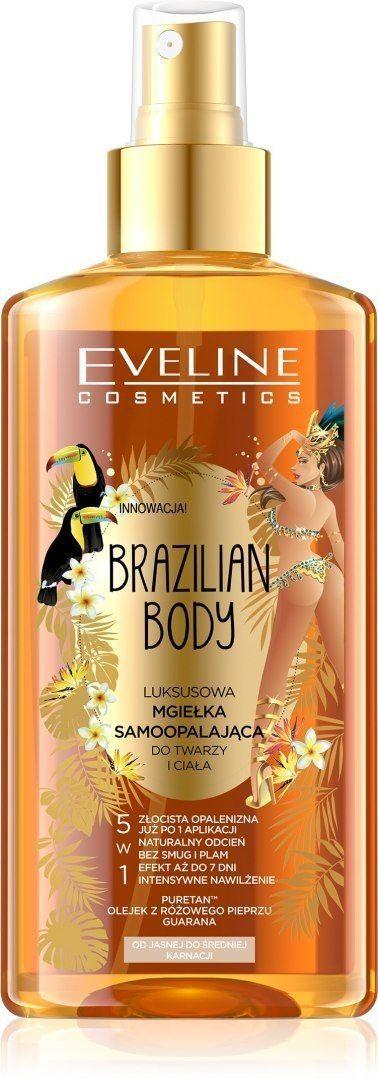 Eveline Eveline Brazilian Body Luksusowa Mgiełka samoopalająca do twarzy i ciała 5w1 150ml
