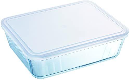 Pyrex Prostokątne naczynie z plastikową pokrywką, 2,6 l