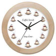 Zegar drewniany rondo coffee time