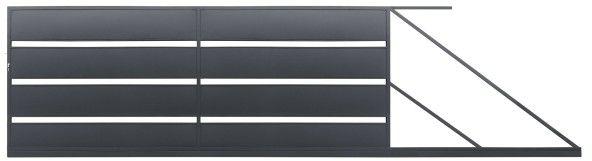 Brama przesuwna Polbram Steel Group Leda 400 x 158 cm ocynk antracyt prawa
