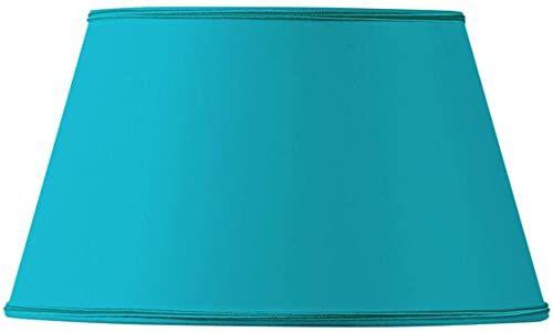 Klosz lampy w kształcie półEmpire, 45 x 32 x 26 cm, turkusowy