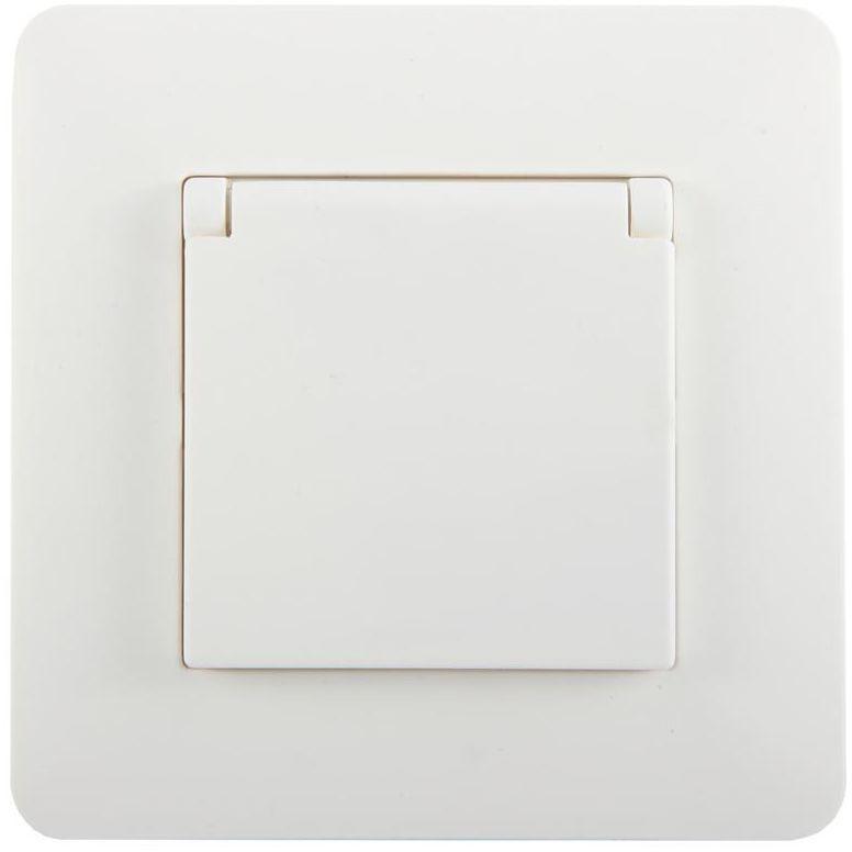 Gniazdo pojedyncze IP44 ARTEZO biały HBF