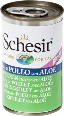 Schesir (kot) - puszka 140g - Filety z kurczaka z aloesem dla kociąt