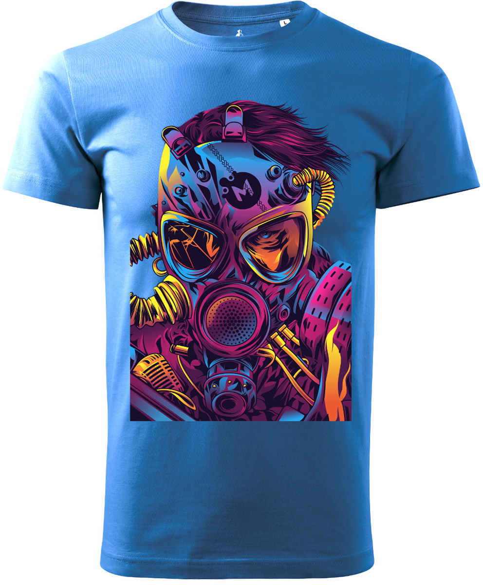 Koszulka T-Shirt Voyovnik Cyberpunk - niebieska (V-2102-24-14)