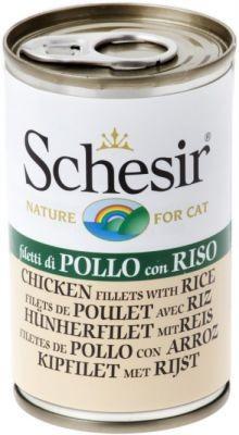 Schesir (kot) - puszka 140g - Filety z kurczaka z ryżem