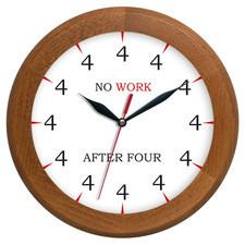 Zegar drewniany rondo no work