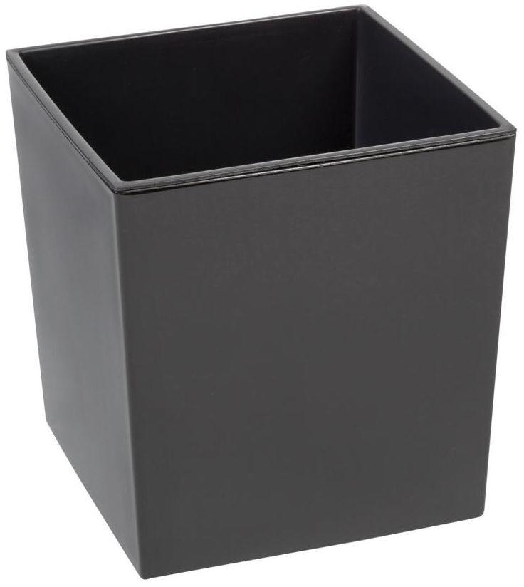 Doniczka plastikowa 25 x 25 cm antracytowa JUKA
