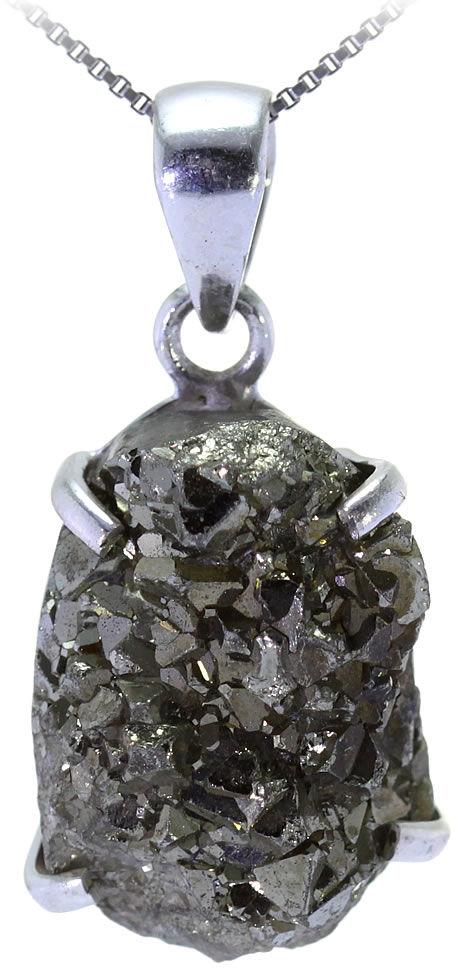Kuźnia Srebra - Zawieszka srebrna, 39mm, Druza Pirytu, 19g, model