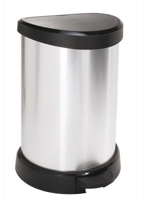 Kosz na śmieci DECOBIN 20L - srebrny