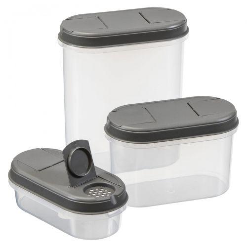 Pojemniki na żywność z dozownikami 3 sztuki