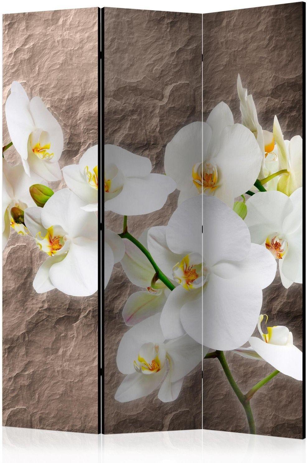 Parawan 3-częściowy - nieskazitelność orchidei [room dividers]