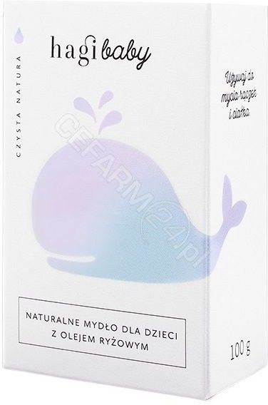 Hagi Naturalne Mydło Mydło dla dzieci z olejem ryżowym 100 g